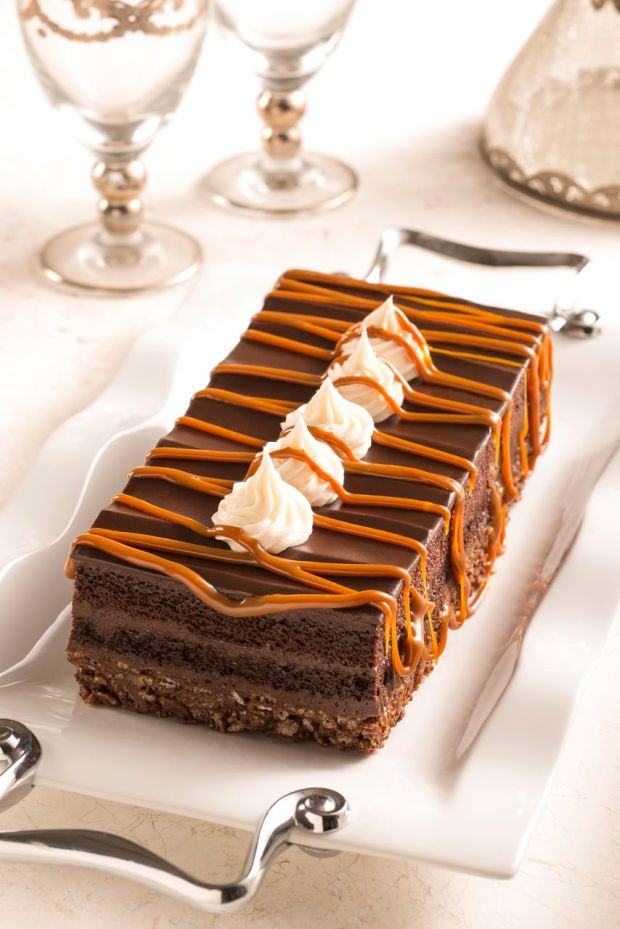 Professional Photo - Chocolate Cake with Caramel Drizzle